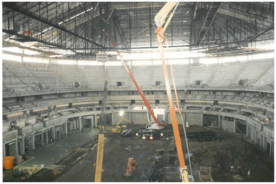 1997 construction of the New Orleans Sports Arena