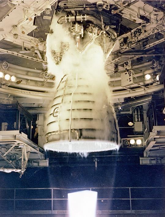 1981 Stennis Space Center main engine testing