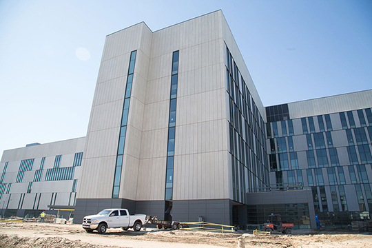 Nearing the end of construction on University Medical Center